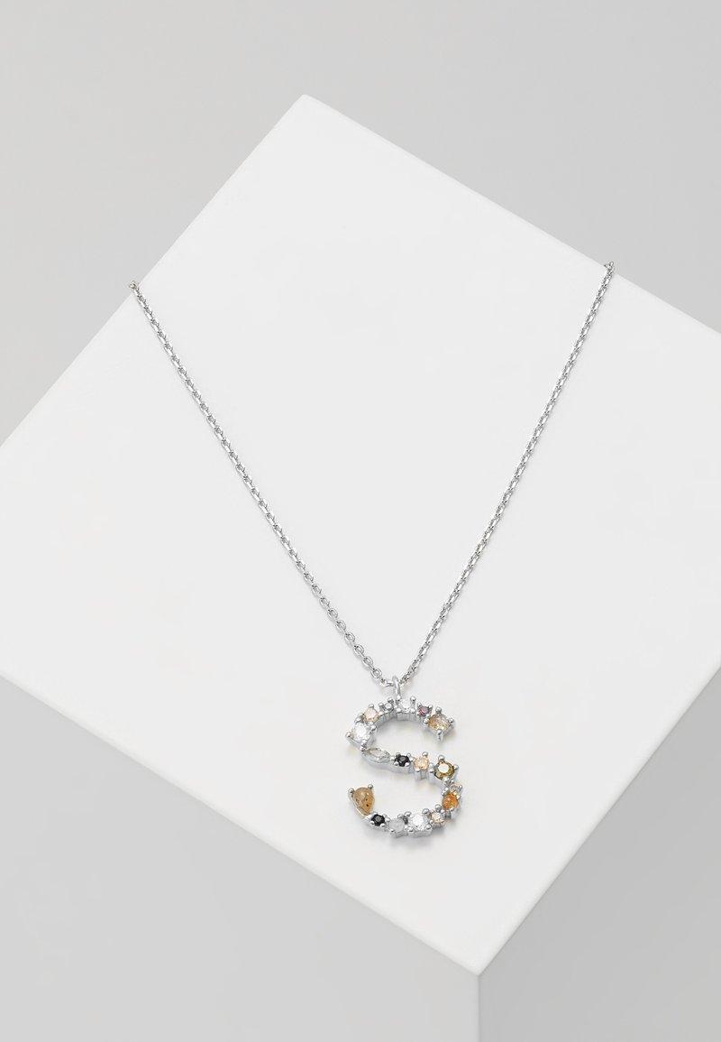 P D Paola - LETTER NECKLACE - Necklace - silver-coloured