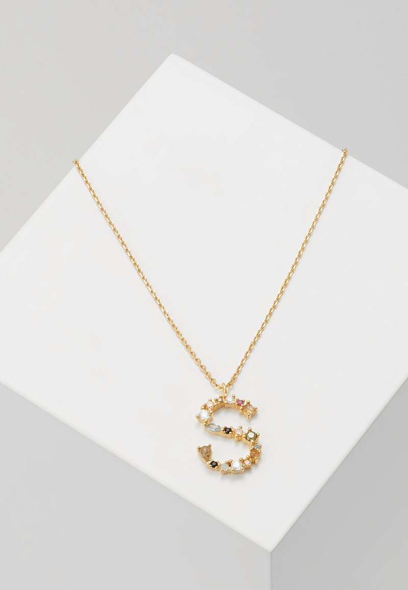 P D Paola - LETTER NECKLACE - Collier - gold-coloured