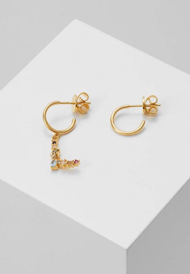 E EARRING - Oorbellen - gold-coloured