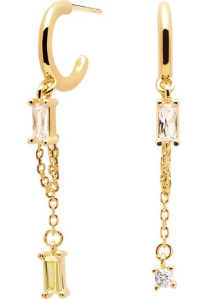 P D PAOLA DAMEN CREOLE SALMA  SILBER ZIRKONIA - Earrings - gold