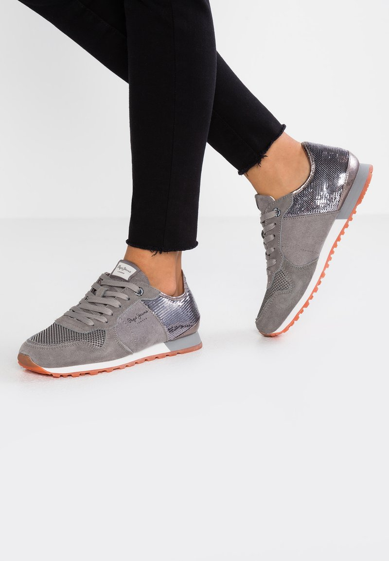Pepe Jeans - VERONA NEW SEQUINS - Sneakers - middle grey