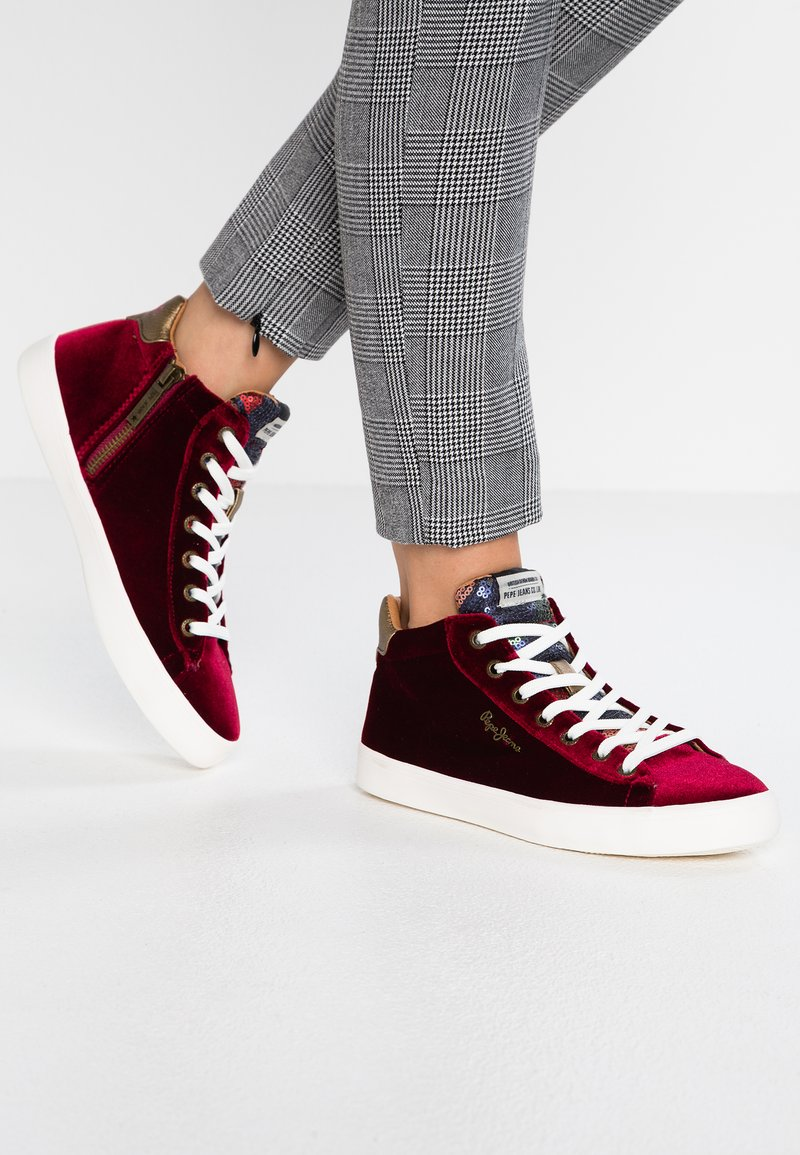 Pepe Jeans - STARK SEQUINS - High-top trainers - date