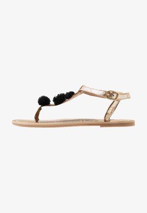 MALIBU - T-bar sandals - gold