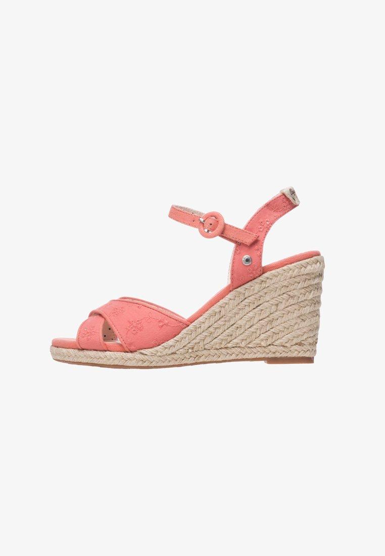 Pepe Jeans - SHARK RET - Sandales compensées - coral