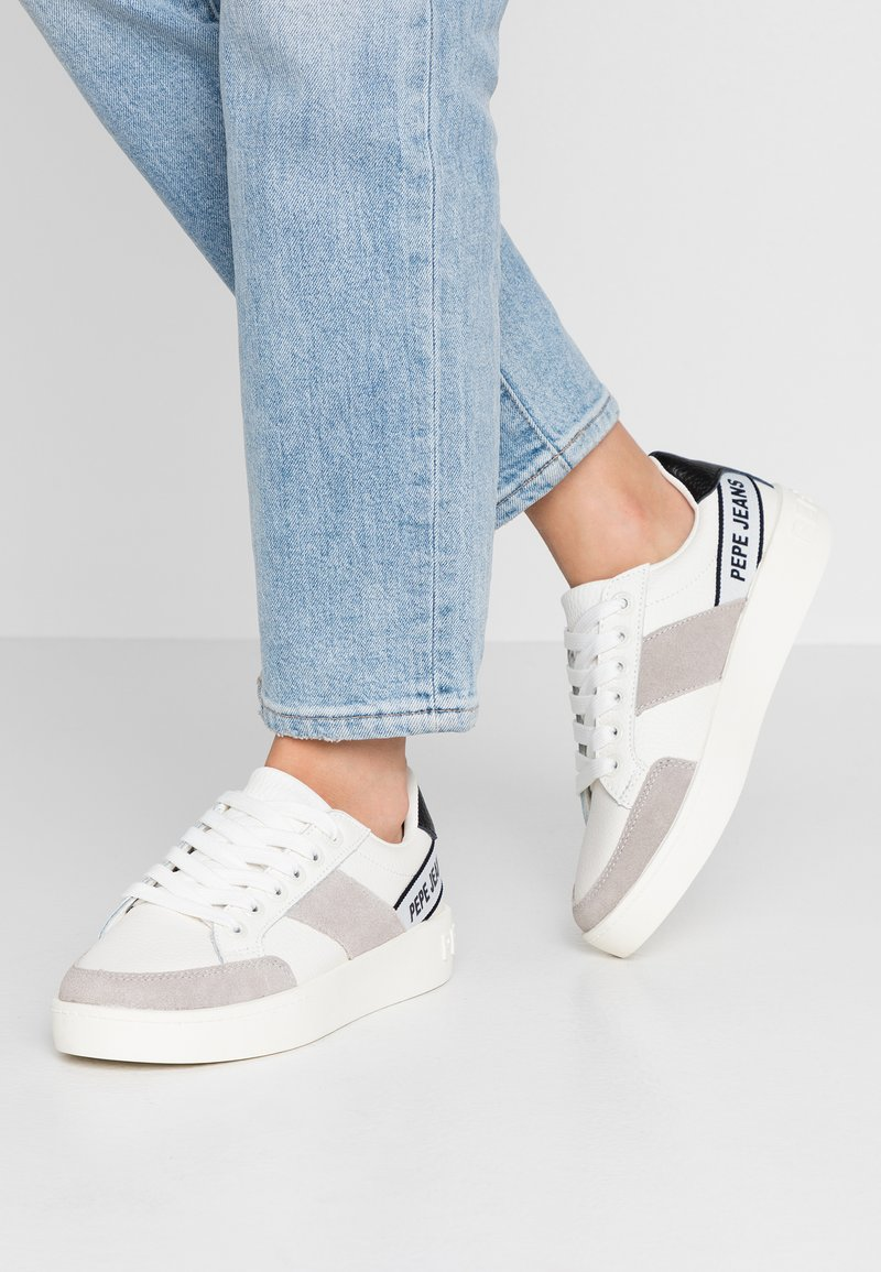 Pepe Jeans - BRIXTON TAPE - Trainers - white