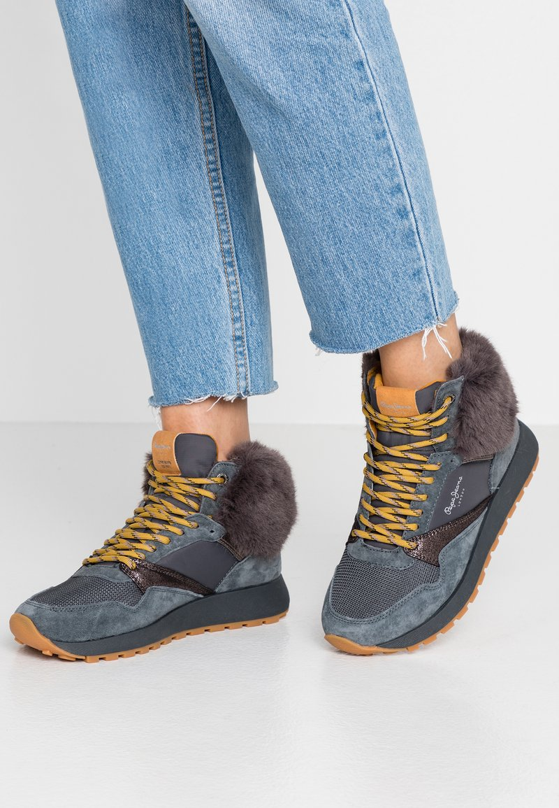Pepe Jeans - DEAN WARM - High-top trainers - gris