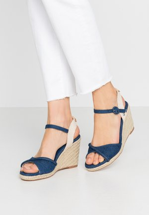 SHARK  - High heeled sandals - dark denim
