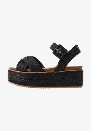 WICK NATURAL - Espadrilles - black