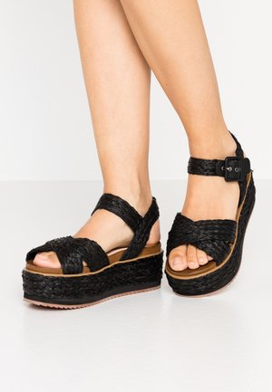 WICK NATURAL - Espadrilky - black