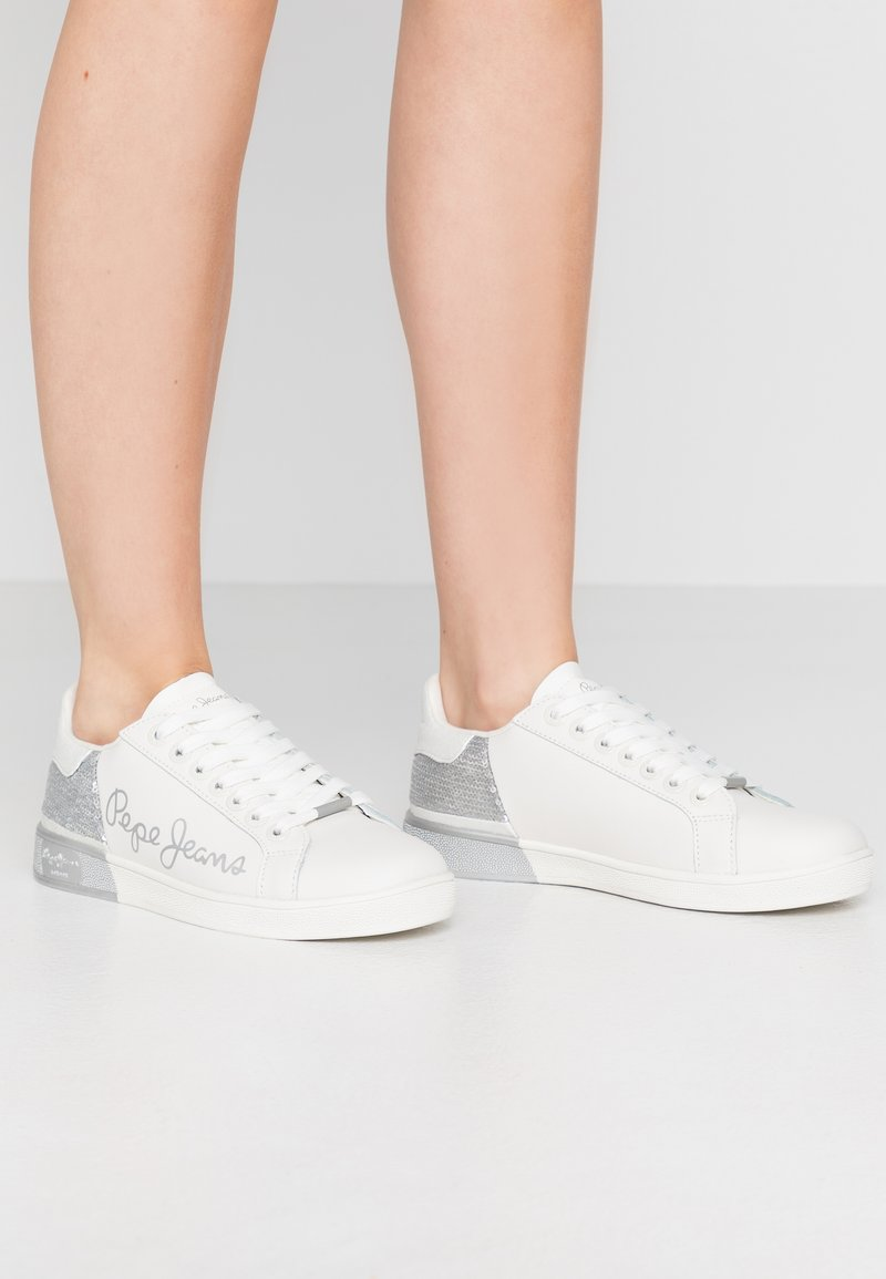 Pepe Jeans - BROMPTON SEQUINS - Trainers - silver