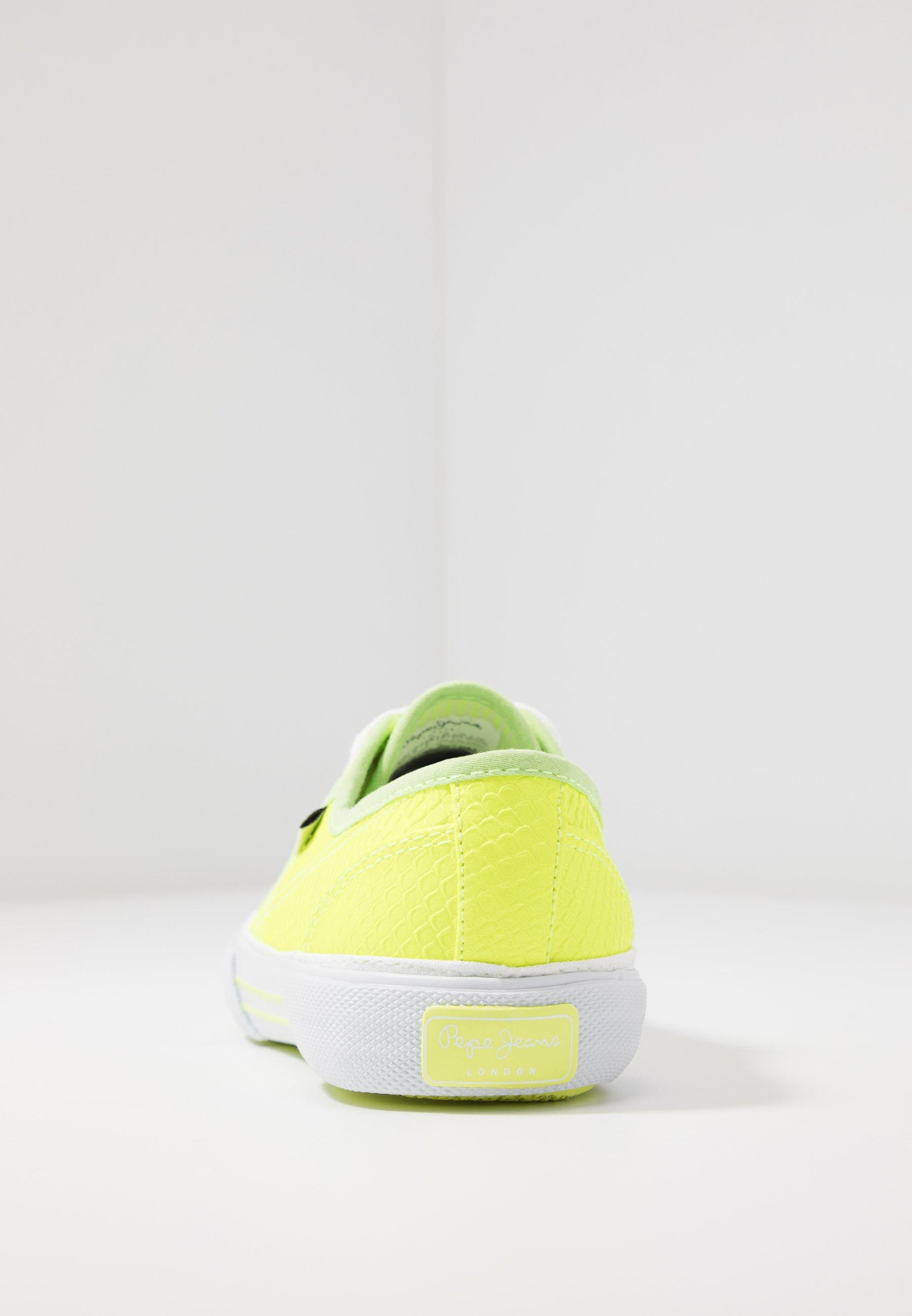 Pepe Jeans ABERLADY FLUOR - Sneaker low - neon yellow Q3lIx5
