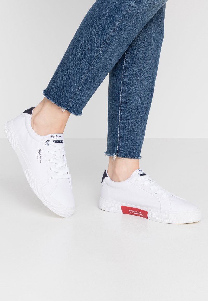 Pepe Jeans - KENTON BASIC WOMAN - Sneakers basse - white