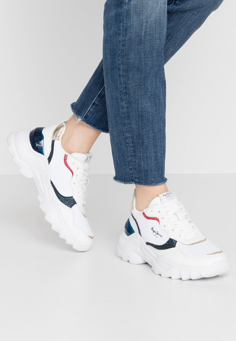 Pepe Jeans - ECCLES CLEX - Sneakersy niskie - white