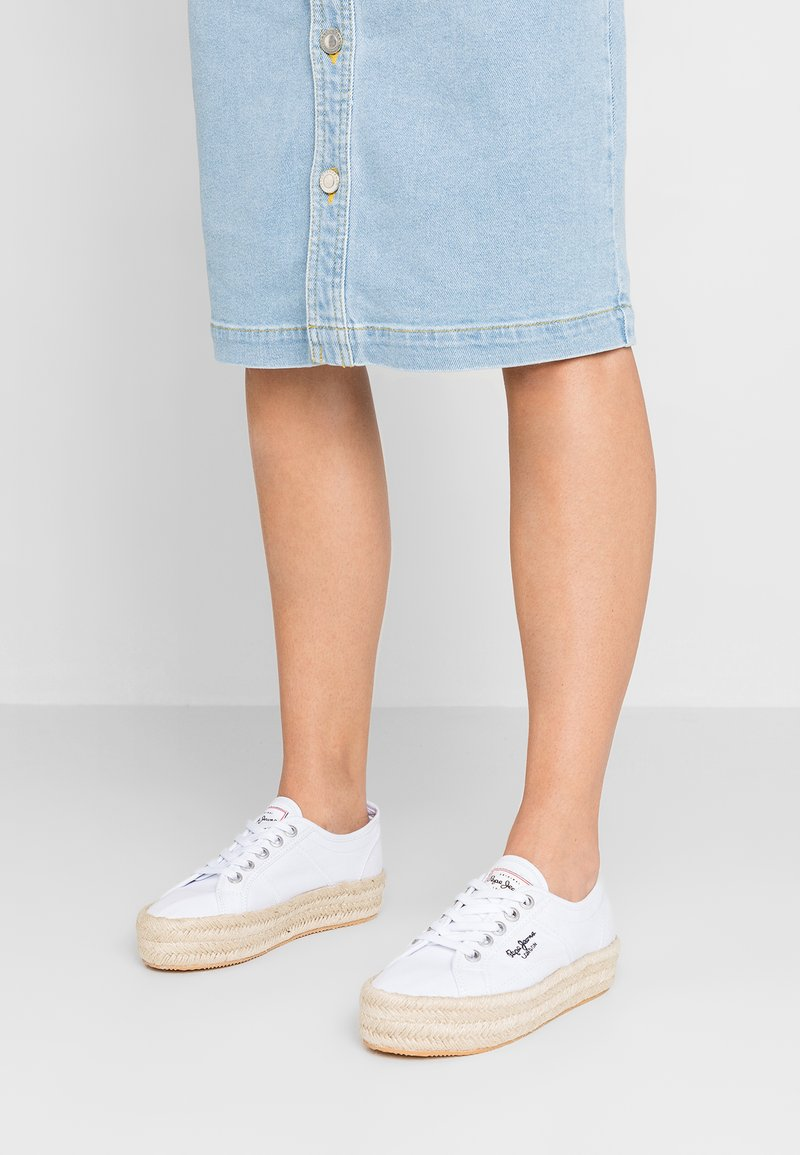 Pepe Jeans - ABERSUN - Espadrilles - white