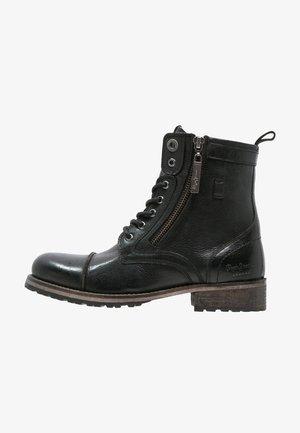 MELTING  - Snørestøvletter - black