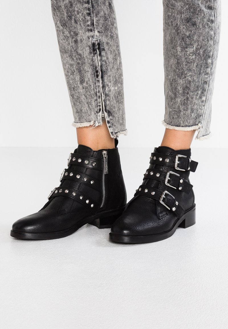 Pepe Jeans - DEVON STRAPS - Ankelstøvler - black
