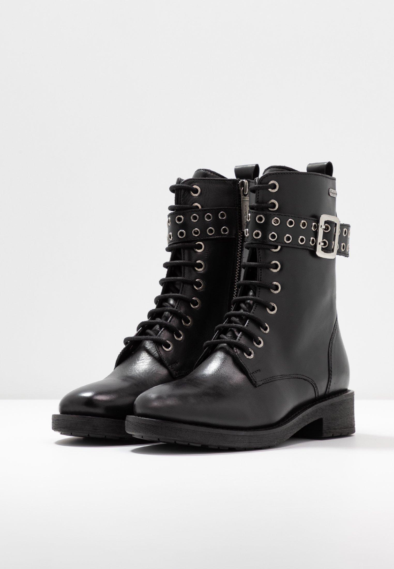 Pepe Jeans MADDOX BASS - Cowboy-/Bikerstiefelette black