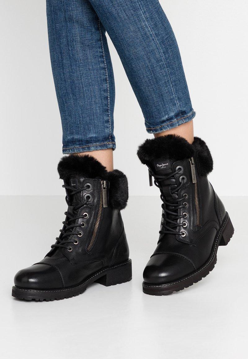 Pepe Jeans - MELTING RUSS - Bottines à lacets - black