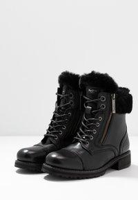 Pepe Jeans - MELTING RUSS - Bottines à lacets - black - 4