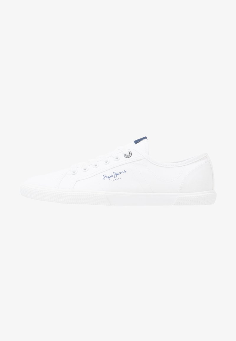 Pepe Jeans - ABERMAN - Matalavartiset tennarit - white