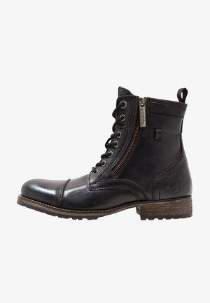 MELTING ZIPPER NEW - Bottines à lacets - black