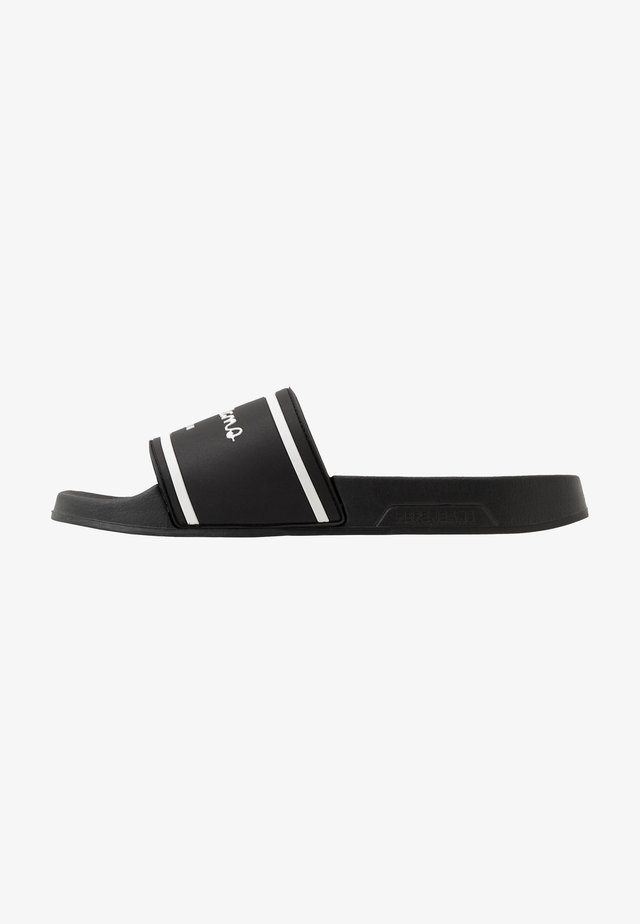 SLIDER BASIC MAN - Sandalias planas - black