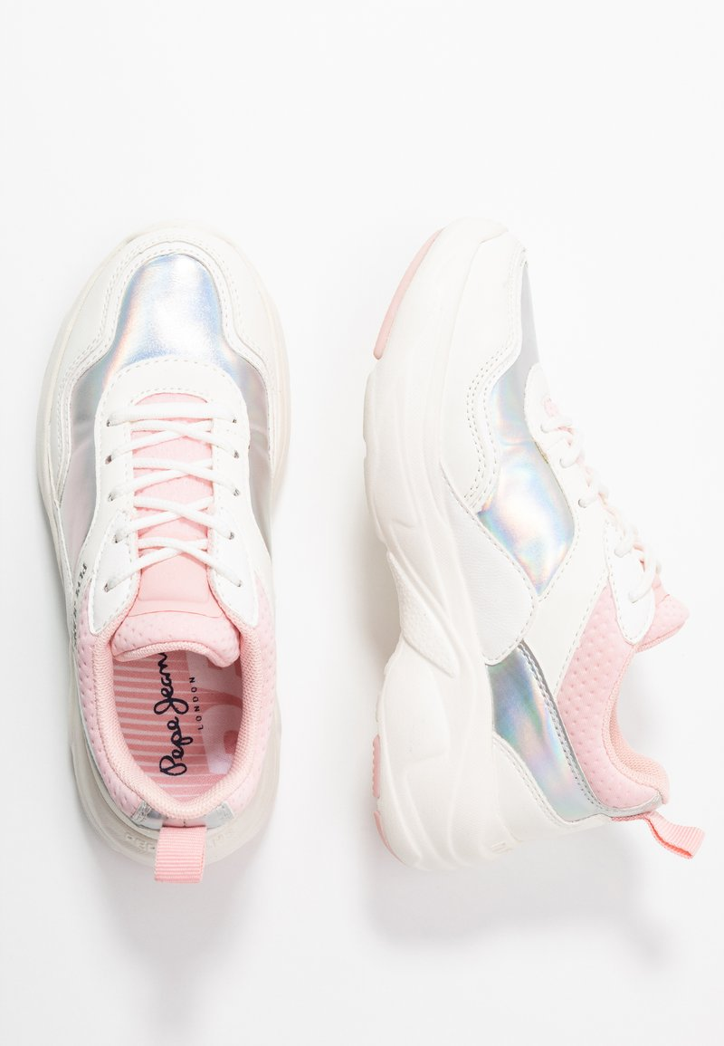 Pepe Jeans - SINYU GIRL IRIDISCENT - Sneakersy niskie - white