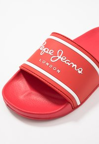 Pepe Jeans - SLIDER LOGO - Pantolette flach - red - 2