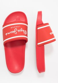 Pepe Jeans - SLIDER LOGO - Pantolette flach - red - 0