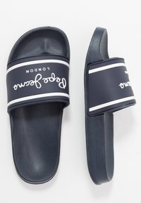 Pepe Jeans - SLIDER LOGO - Mules - navy - 0