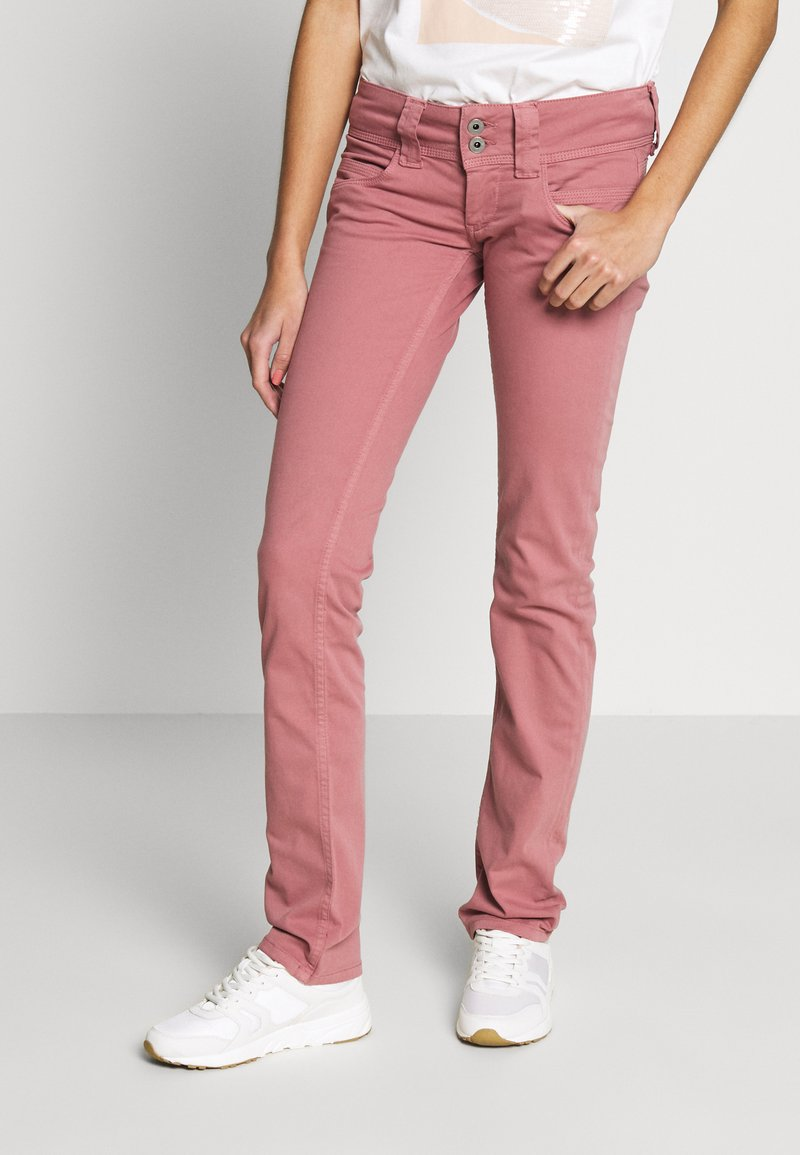 Pepe Jeans - VENUS - Trousers - washed pink
