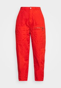 Pepe Jeans - DUA LIPA x PEPE JEANS - Spodnie materiałowe - bright orange - 5