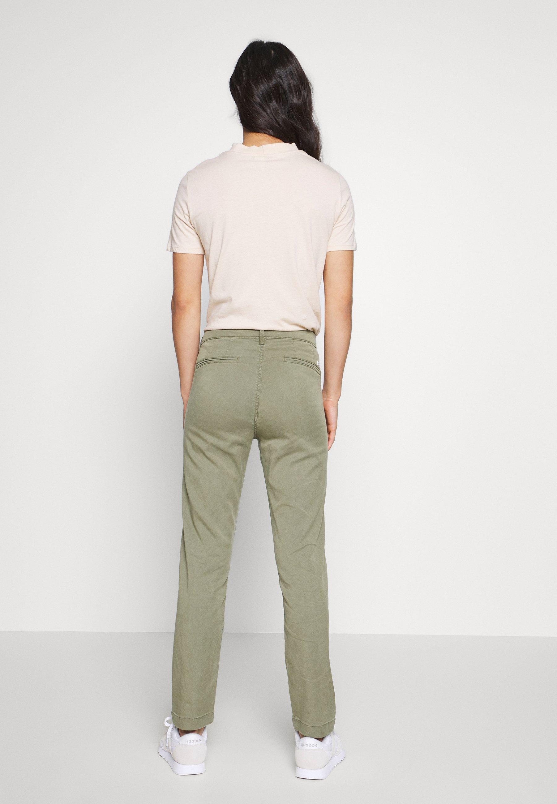 Pepe Jeans MAURA - Spodnie materiałowe - thyme
