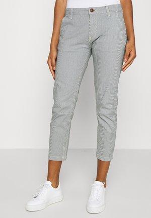 MAURA STRIPE - Pantalon classique - blue/white