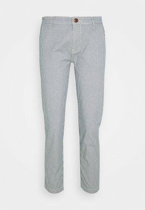 MAURA STRIPE - Trousers - blue/white