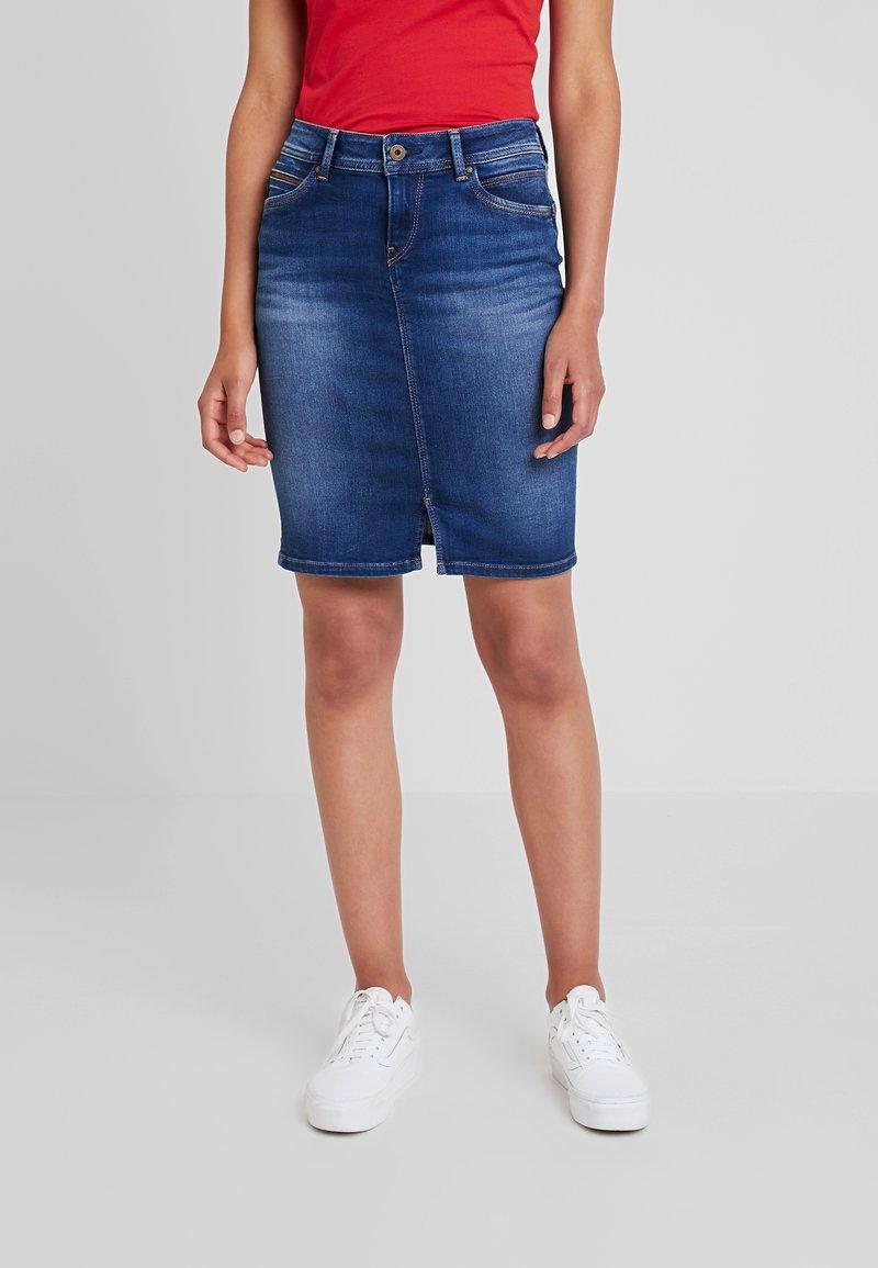 Pepe Jeans - TAYLOR - Pencil skirt - denim dark used