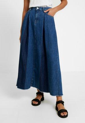 MAXIME - Pleated skirt - denim
