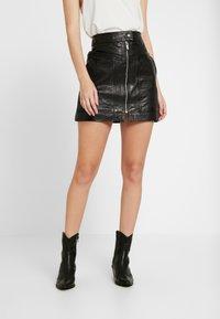 Pepe Jeans - GINA - Áčková sukně - black - 0