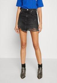 Pepe Jeans - RACHEL SKIRT - Spódnica jeansowa - black denim - 0