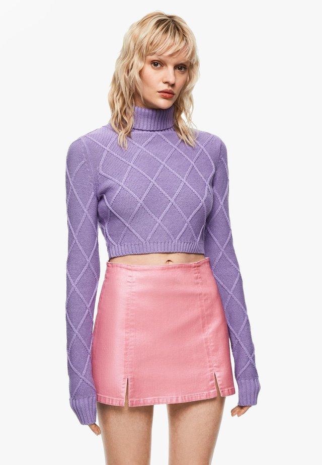 DUA LIPA X PEPE JEANS  - A-line skirt - chewing gum