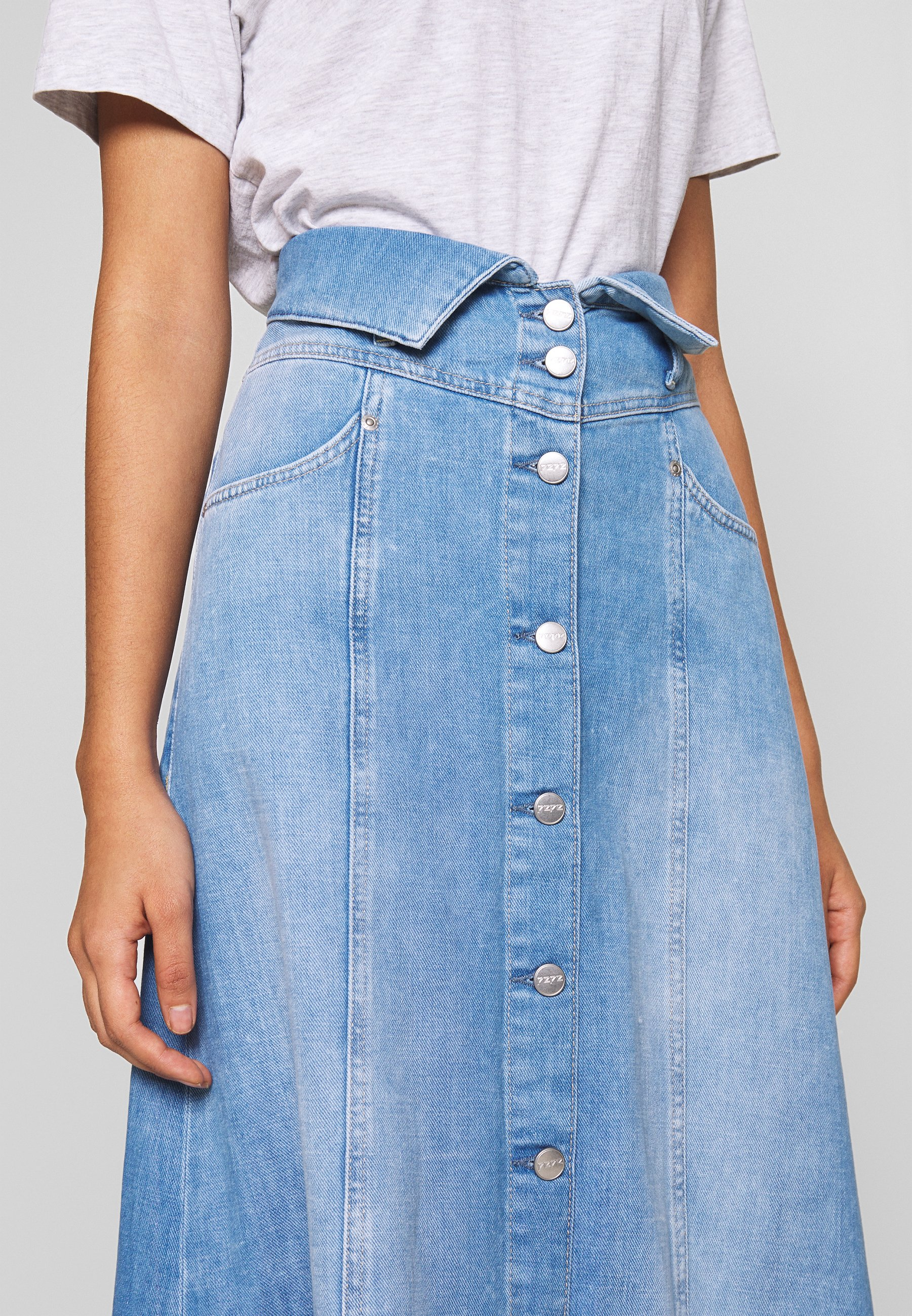 Pepe Jeans BELL - Spódnica trapezowa - denim