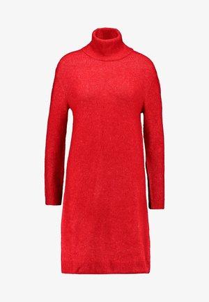 WUCHER - Pletené šaty - lipstick red