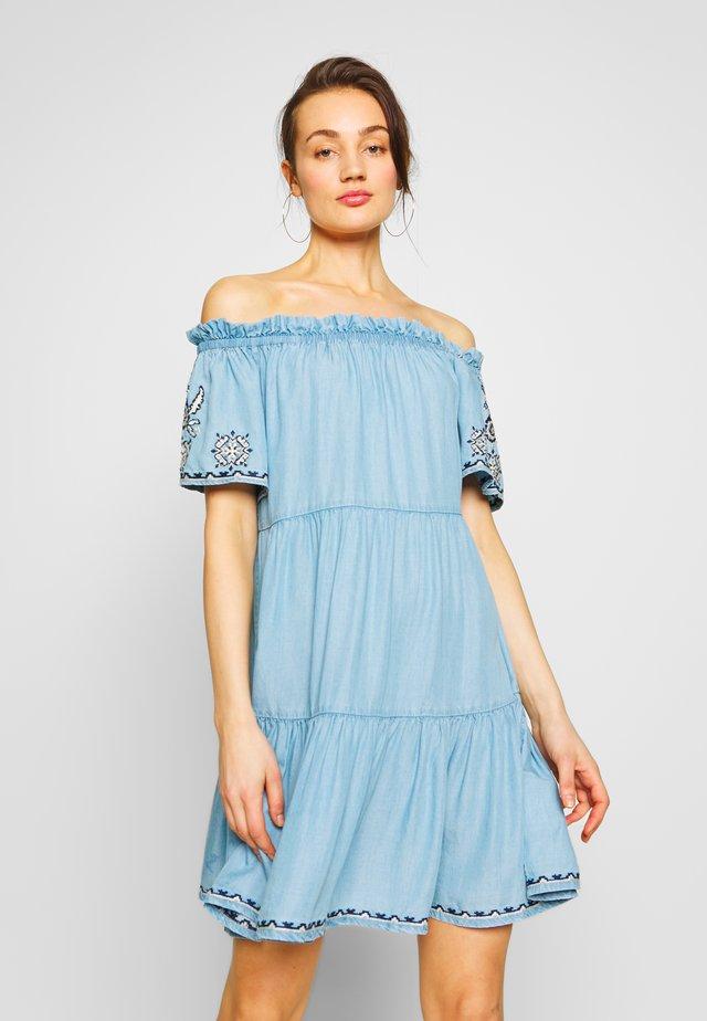 SASHA - Denim dress - blue