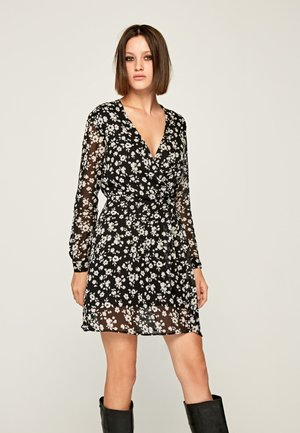 MAGDA - Day dress - black/white