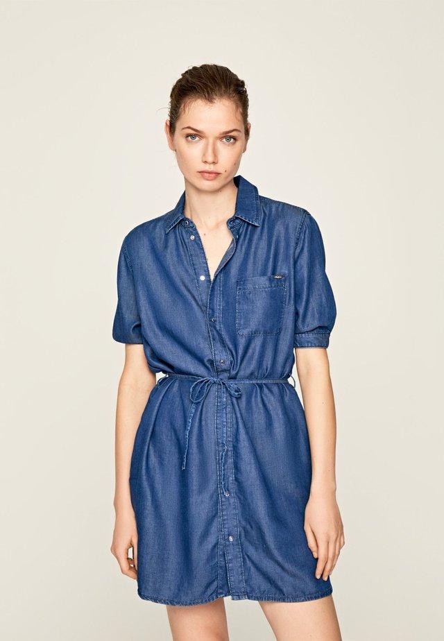 GLOSS - Vestido vaquero - blue denim
