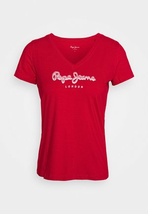 MIRANDA - T-shirts med print - red