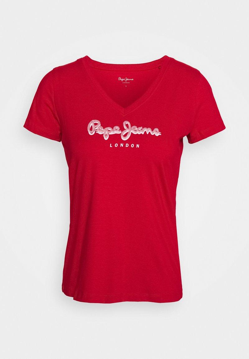 Pepe Jeans - MIRANDA - T-shirt z nadrukiem - red