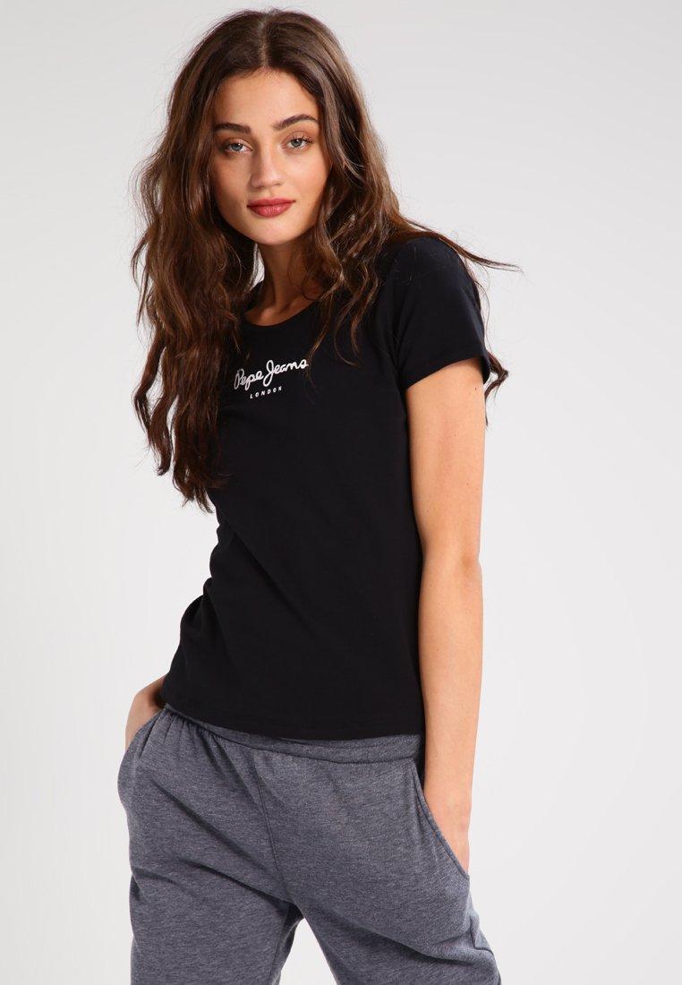 Pepe Jeans - NEW VIRGINIA - T-shirt z nadrukiem - black