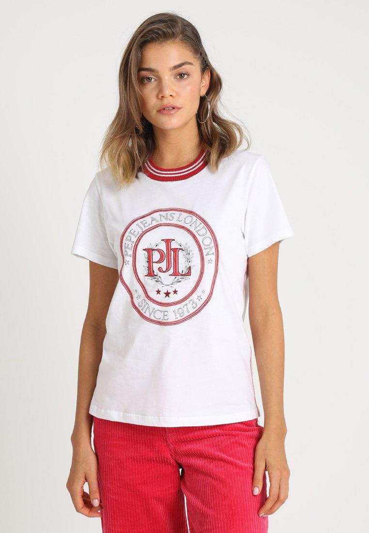 Pepe Jeans - ELI - Print T-shirt - optic white