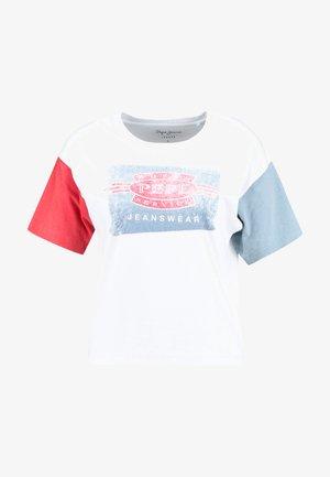 AFIDA - T-shirt print - optic white